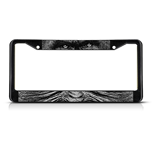 - Fastasticdeals Gorilla Animal Eyes Metal License Plate Frame Tag Border Two Holes Black