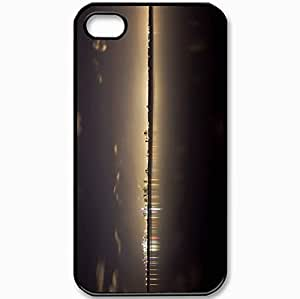 Protective Case Back Cover For iPhone 4 4S Case Night Lights Miami Black