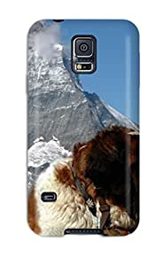 First-class Case Cover For Galaxy S5 Dual Protection Cover Dog