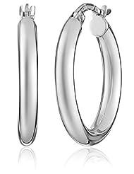 Duragold 14k White Gold Hoop Earrings