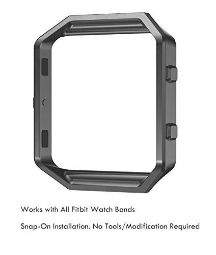 Fitbit Blaze Replacement Gunmetal Grey Frame / Housing, Truffol Stainless Steel Watch Case (Gunmetal Grey) - Gunmetal Metal