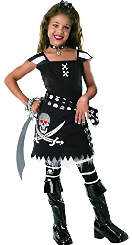 Party City Girl Pirate Costume (Drama Queens: Bad Spirit Kids Costume Small 4-6)