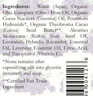 Lavender Castile Soap Liquid – 1 Gallon – Organic Lavender Liquid Soap Refill – Pure Castile Liquid Soap – Carolina Castile Soap