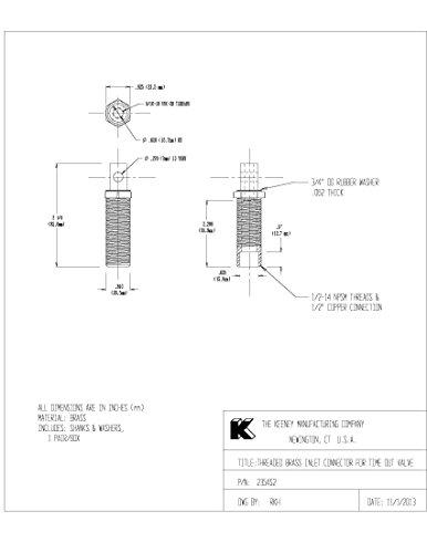 Keeney Manufacturing 2354S2 TimeOut 1/2-Inch Brass Washing Machine Valve Inlet Connectors