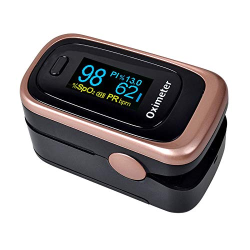 Pulse Oximeter Fingertip Blood Oxygen Saturation Monitor FDA Approved for Children & Adult (Battery & Lanyard Included)(Rose Gold) ()