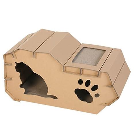 petdays Feline Casa (popoky) Cat de papel de la Casa, rascador de espalda: Amazon.es: Productos para mascotas