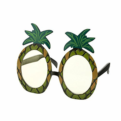 Talking Tables Tropical Party Pineapple Sunglasses for a Summer Party or Luau, Multicolor -
