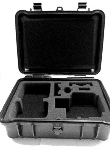 Revesunプロフェッショナル防水Extra Large Carrying Case for Gopro Hero 4、セッション、ブラック、シルバー、ヒーロー+ LCD、3 +、3、2、1 by CamKix withショルダーストラップとカスタマイズ可能なインテリアとアクセサリー   B01DZQAVW2