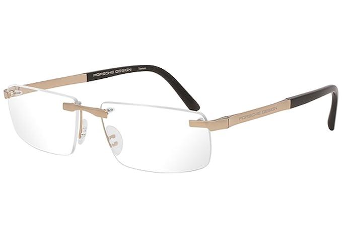 9e27bec4ce7 ... Amazon com Porsche Design P8252 A Titanium Eyeglasses Frame Gold