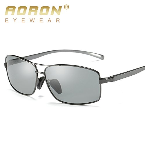 46f746a5b3 BuyWorld 2018 AORON Photochromic Sunglasses Men Polarized Discoloration HD Goggles  Male Anti Glare Driving Glasses Brand Design Eyewear  Amazon.in  Home   ...