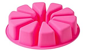 Big Round Flexible Silicone Mold for Handmade DIY Soap Cake with 10 Triangle Shaped Cavity