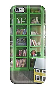 Special ZippyDoritEduard Skin Case Cover For Iphone 6 Plus, Popular Girls Room With Bright Green And Glass Cubby Display Bookshelf Phone Case