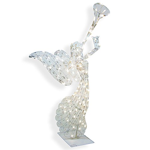 Brite Star Angel Opalescence Figurine, 48-Inches