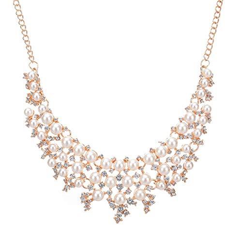 - Mnyycxen Pearl Source 14K Gold Round White Akoya Cultured Pearl & Diamond Michelle Pendant Necklace for Women