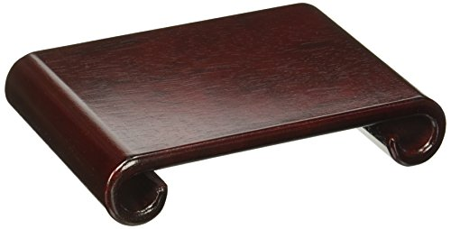 Oriental Furniture Rosewood Scroll Stand – Small