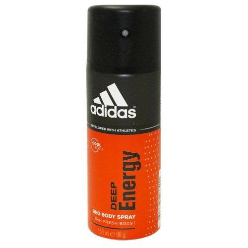 Adidas profonde énergie Déodorant vaporisateur pour le corps pour les hommes, 5 onces