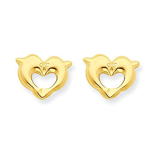 Gold Dolphin Post Earrings - 4