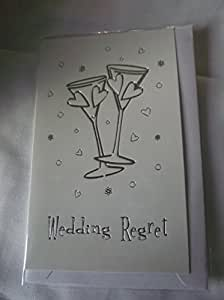 Cameos pequeña tarjeta boda arrepentimiento - oro o plata ...