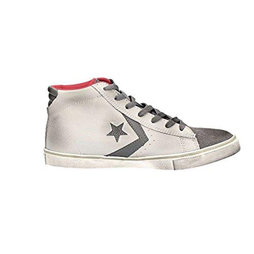 Scarpe Converse alta Pro Leather Vulc Mid Junior ALL STAR in pelle e tessuto 655124C
