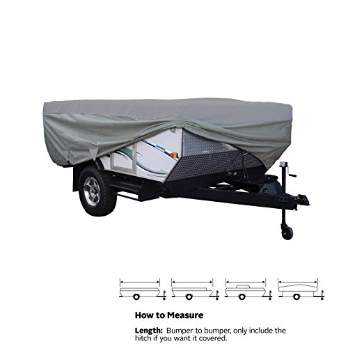 SavvyCraft Waterproof Pop Up Folding Camper Tent Trailer Storage Cover fits 18'-20'L