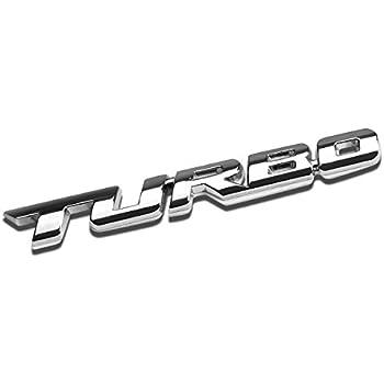 3D Letter Metal Emblem Turbo Badge (Chrome Silver)