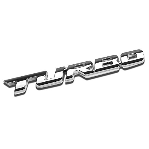 3D Letter Metal Emblem Turbo Badge (Chrome Silver) (Ls4 Emblem)