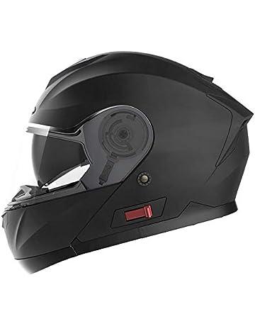 Mdsfe New Flip Motorcycle Helmet Retro Helmet Chrome Blue Double Lens Anti-Scratch and Dazzling Modular Full Helmet 9 X M