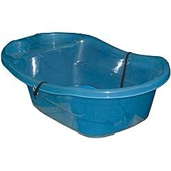 Pet Gear Pro Pawty, Orinal de entrenamiento ayuda para orina/parche de zacate, bandeja extraíble mantiene la almohadilla incluida, oculta los líos, protector de pared opcional, caja de arena para perro, Tina para bañar cachorros solamente. Azul océano, Azul, 29 pulgadas