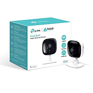 Kasa Indoor Camera, 1080P HD Smart wifi Security Camera with Night Vision, Motion Detection, Remote Monitor, Works with Google Assistant and Alexa (KC100)