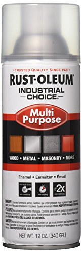 - Rust-Oleum 1610830 1600 System Multi-Purpose Enamel Spray Paint, 12-Ounce, Crystal Clear