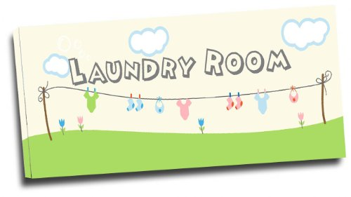 Framed Canvas Print Laundry Room Cute wall art signs
