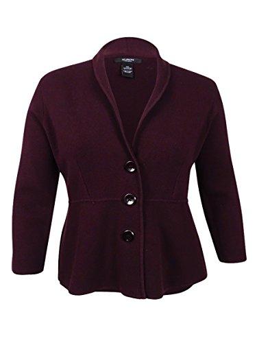 Alfani Womens Plus Knit Shawl Collar Cardigan Sweater Purple 2X from Alfani