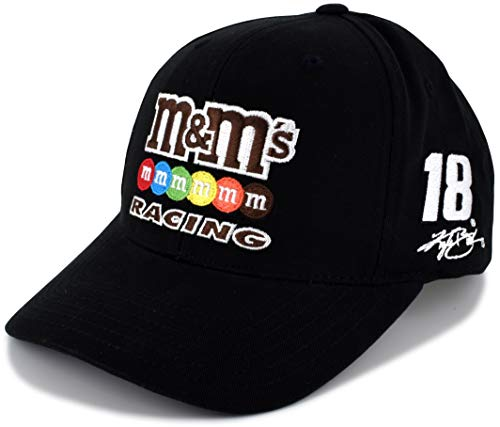 Checkered Flag Kyle Busch #18 Black Sponsor NASCAR Hat (Checkered Flag Baseball Cap)