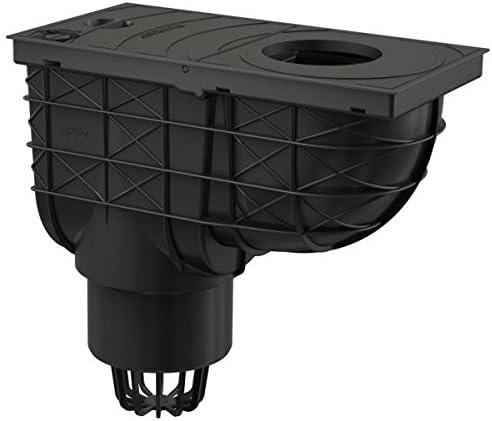 Alcaplast AGV1 Universal Regensinkkasten 300x155//110 Abgang senkrecht schwarz Regenrohrablauf Dachrinnenablauf Regenwasserablauf Regenablauf
