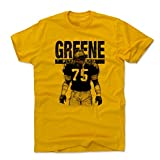 500 LEVEL Mean Joe Greene Cotton Shirt (XXX-Large, Gold) - Pittsburgh Steelers Men's Apparel - Joe Greene Sketch K