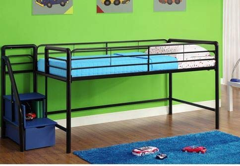 Amazon Com Loft Bed With Stairs Toddler Loft Bed Black