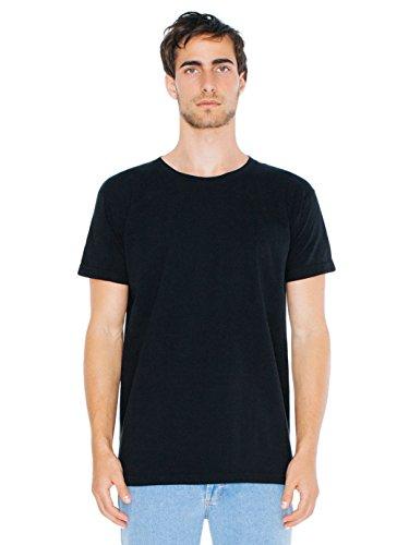 american-apparel-men-power-wash-crewneck-t-shirt-size-xl-black