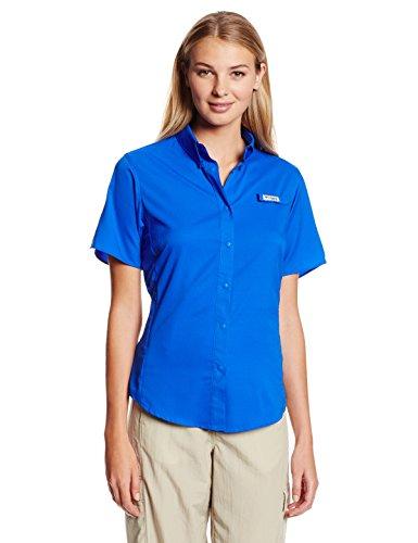 Columbia Sportswear Women's Tamiami II Short Sleeve Shirt, Blue Macaw, 3X (Sportswear Columbia Womens Plus)