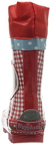 Playshoes Landhaus Oktoberfest aus Naturkautschuk Mädchen Halbschaft Gummistiefel Rot (rot 8)