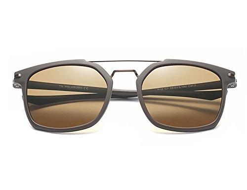 Classique Super de Polarisé Lunettes Unisex Cadre des Marron lunettes Bmeigo de noir Homme Vintage B7 soleil soleil Conduire Lunettes léger qxgXFB