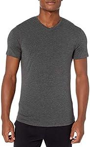 Amazon Brand - Peak Velocity Men's Pima Cotton Modal V-Neck T-s