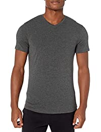 Amazon Brand - Peak Velocity Men's Pima Cotton Modal V-Neck T-shirt