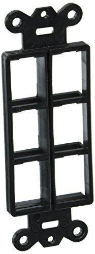 Hubbell ISF6BK iSTATION Decorator Frame Wall Plate, 6 Port, Black