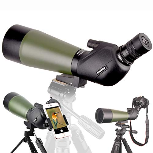 Gosky Spotting Scope with Tripod, Carrying Bag and Scope Pho