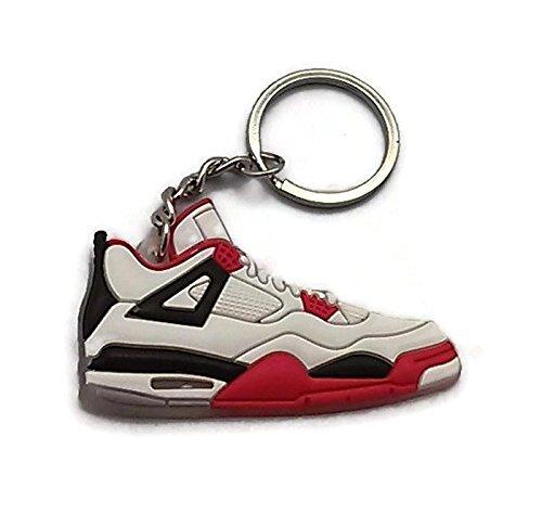 White Air Jordan IV Sneaker Keychain