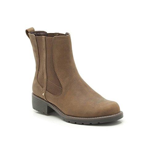 Clarks Womens Orinoco Club Brown Leather Boots U 8