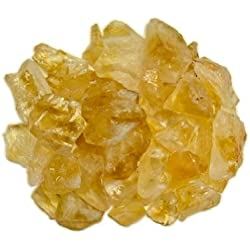 Hypnotic Gems Materials: 1 lb Rough Bulk Citrine Stones from Brazil - Raw Crystals for Cabbing, Tumbling, Lapidary, Polishing, Wire Wrapping, Wicca & Reiki Crystal Healing
