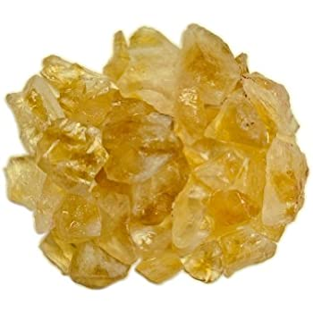 Hypnotic Gems Materials: 1 lb Rough Bulk Citrine Stones from Brazil - Raw Natural Crystals for Cabbing, Tumbling, Lapidary, Polishing, Wire Wrapping, Wicca & Reiki Crystal Healing