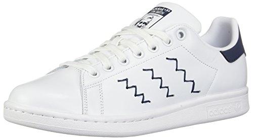Adidas Originali Donna Stan Smith W Fashion Sneaker Bianco / Bianco / Blu Traccia