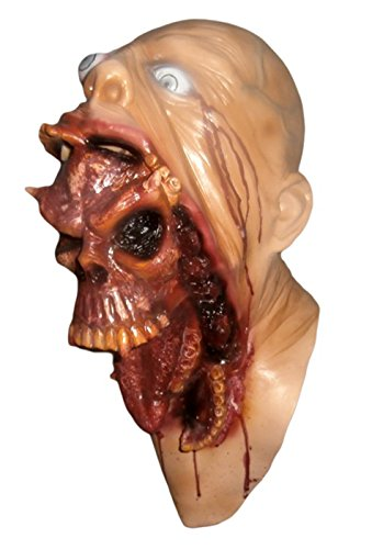 [Blurp Charlie Scary Halloween Latex Overhead Adult and teen Mask prop] (Last Minute Halloween Costumes Devil)